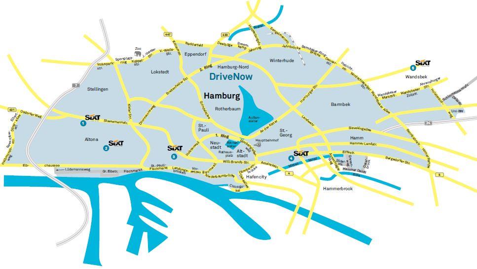 Drivenow Gebiet Köln