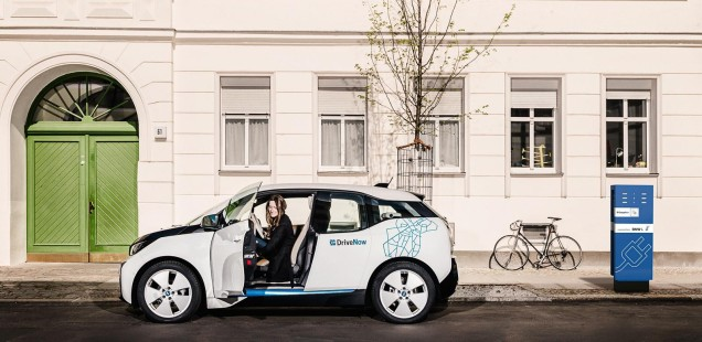 BMW i3 DriveNow an Ladestation